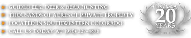 Colorado Guided Deer and Elk Hunting